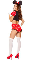Girlie Mouse Costume - Red/White