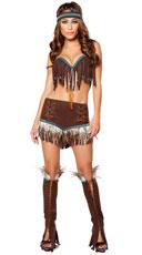 Cherokee Sweetheart Costume - Brown