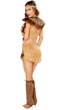 Cherokee Inspired Hottie Costume - Beige