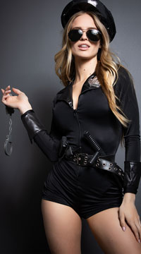 Lady Cop Costume - as shown