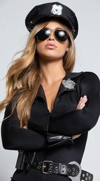 Lady Cop Costume - Black