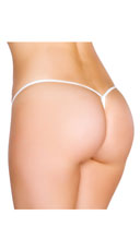 Low Rise G-String - White