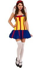 Women's Snow White Costume - Blue/Red/Yellow
