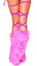 Solid Stretch Thigh Wraps - Hot Pink