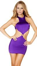Open Back Mini Dress - Purple