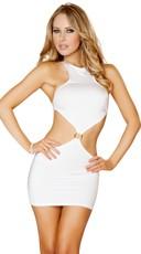 Open Back Mini Dress - White