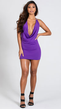 O Ring Dress - Purple