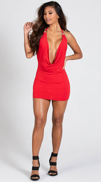 O Ring Dress - Red