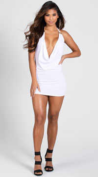 O Ring Dress - White