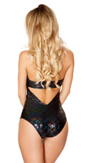 Fantasy Mermaid Cut-Out Romper - Black/Black