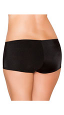 Low Rise Smooth Shorts - Black