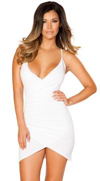 Wrapped Mini Dress - White