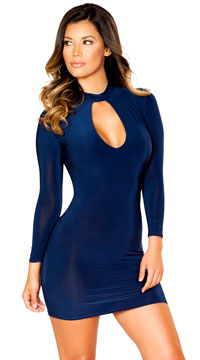 Modern Classic Navy Mini Dress - Navy