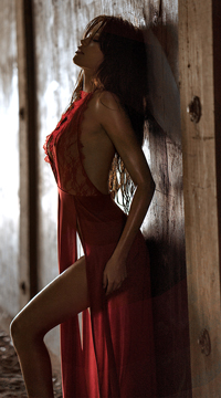 Radiant Red Dress - as shown
