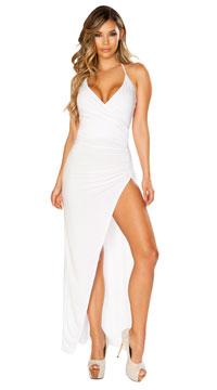 Classically Sexy White Dress - White