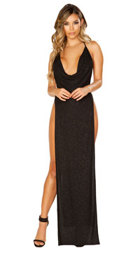 Glittering Beauty Gown - Black