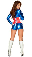 Sexy All American Costume - Red/White/Blue