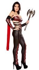 Sexy Warrior Costume - Black/Burgundy