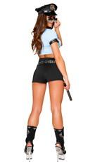 Sexy Police Woman Costume - Blue/Black