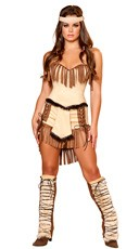 Native American Mistress Costume - Brown