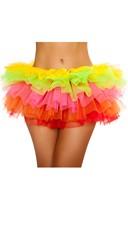 Basic Fluffy Petticoat - Rainbow