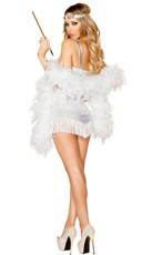 Sexy Silver Flapper Costume