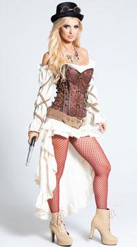 Sexy Steampunk Babe Costume