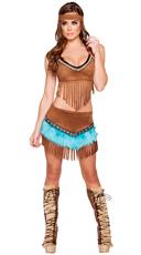 Beautiful Native American Babe Costume