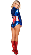 All American Temptress Costume - Red/Blue/White