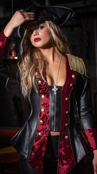 Adventurous Pirate Babe Costume - as shown