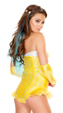 Sunny Mermaid Romper - Yellow