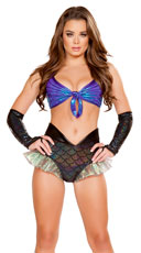 Wicked Black and Blue Mermaid Set - Black/Blue