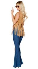 Free Spirit Hippie Costume - Honey/Blue