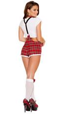 Flirty Teachers Pet Costume - White/Red