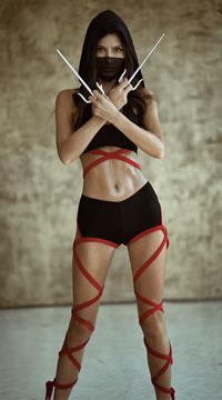 Badass Ninja Costume - Black/Red