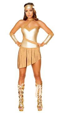 Golden Goddess Costume - Gold/Honey