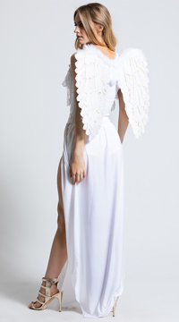 Angel Diva Costume - White/Silver