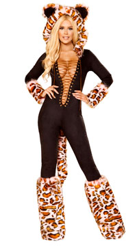 The Pink Leopard Costume - Black/Pink