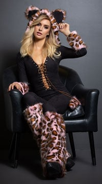 The Pink Leopard Costume - as shown