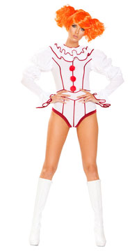 Evil Cosmic Clown Costume - White/Red