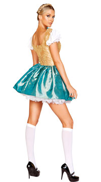 Flirty Beer Fraulein Costume - Blue/Gold