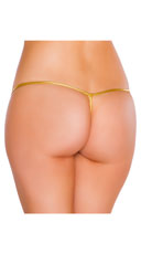 Metallic Tear Drop Thong - Gold