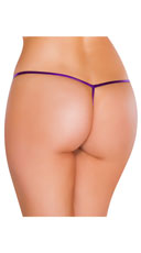 Metallic Tear Drop Thong - Purple