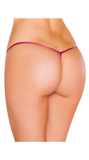 Metallic Tear Drop Thong - Pink