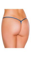 Metallic Tear Drop Thong - Royal Blue