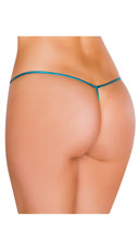 Metallic Tear Drop Thong - Turquoise