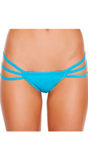 Triple Strapped String Back Thong - Turquoise
