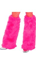 Fur Boot Covers - Hot Pink
