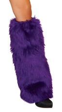 Fur Boot Covers - Purple