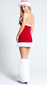Chic Santa Costume - Red/White